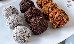 Trufas de chocolate al coñac (Postres fácil)