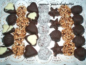 Bombones de chocolate (Receta postres fácil)
