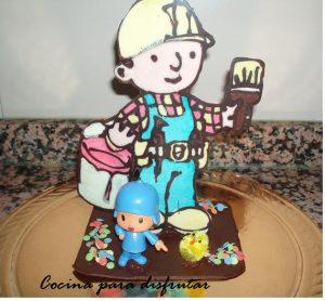 Mona de Pascua de chocolate (Receta postre fácil)