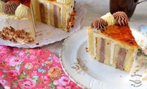 Hacer pastel espiral con nata trufa fácil