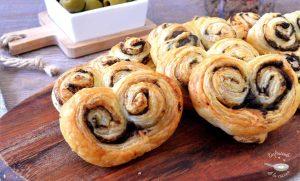 Como hacer palmeritas de tapenade, paté de aceitunas o olivada fáciles
