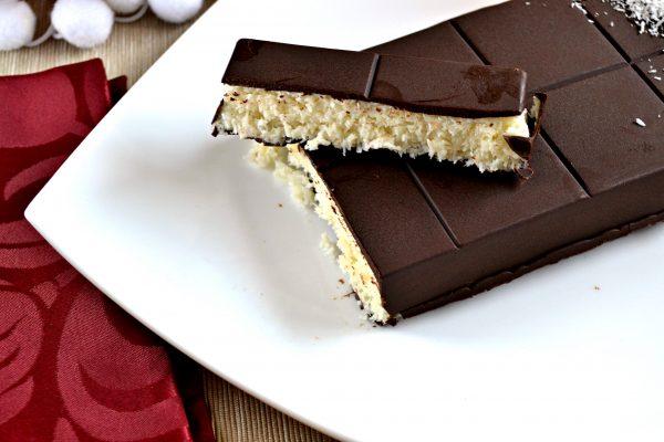 Cómo hacer turrón de chocolate y coco fácil