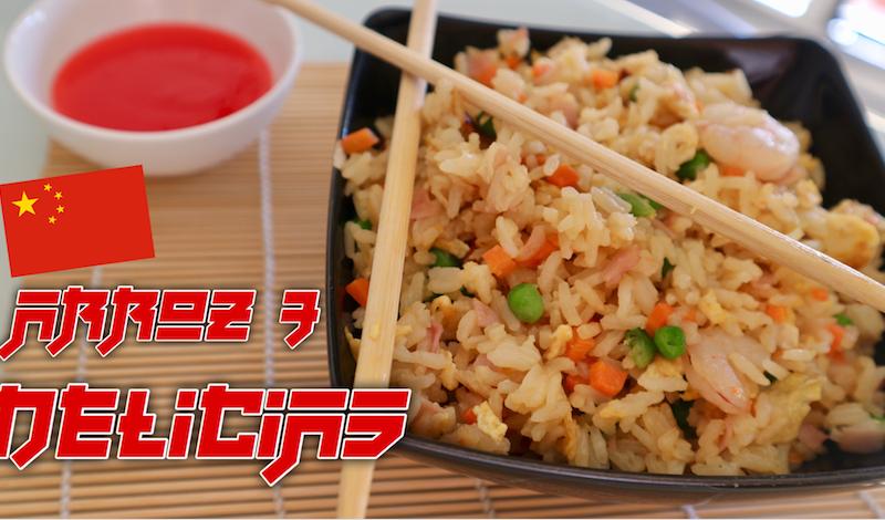 Cómo hacer arroz frito 3 delicias fácil