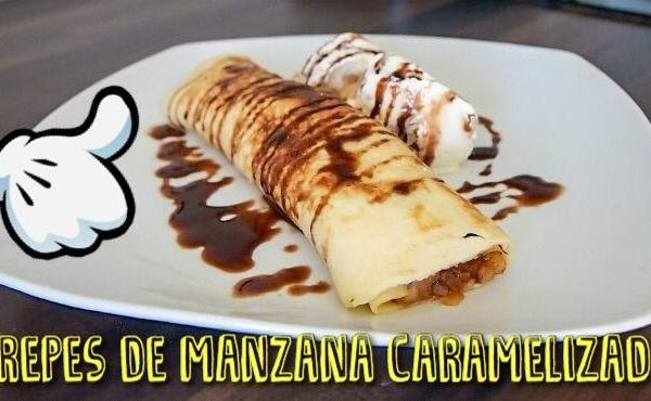 Cómo hacer creps de manzana caramelizada fáciles