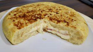 tortilla sandwich jamon queso fácil receta