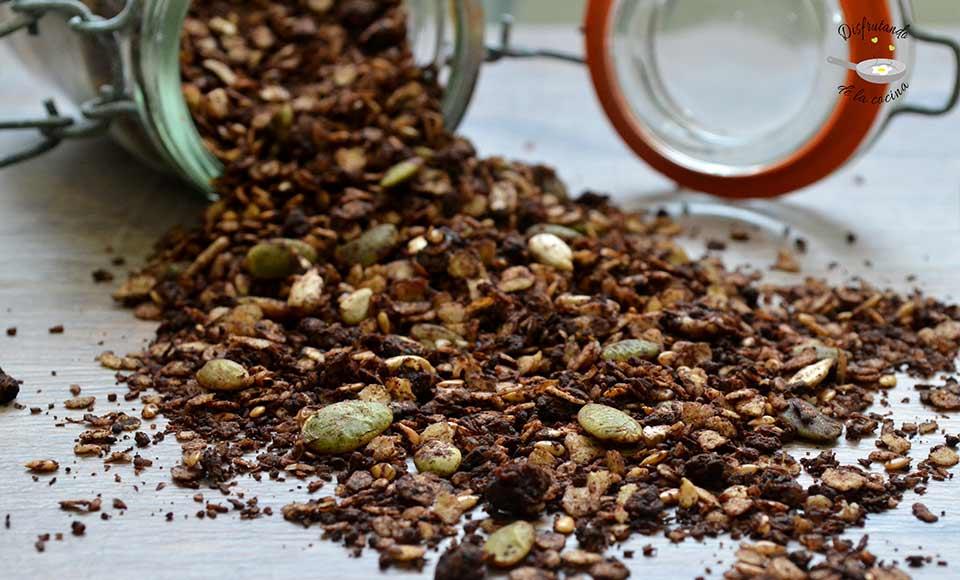 Hacer granola de chocolate en casa receta
