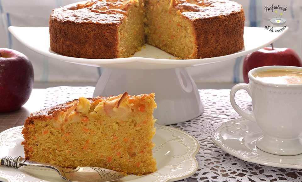 Como hacer pastel con zanahoria, manzana y calabaza fácil