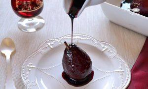 Receta peras al vino tinto fáciles