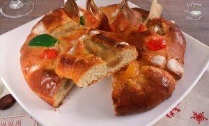 roscon de reyes relleno de mazapan receta fácil