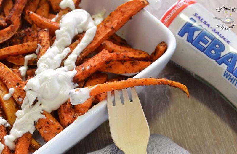 boniato cajun con salsa yogur receta facil