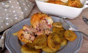 Hacer muslos de pollo rellenos de jamon y queso receta fácil