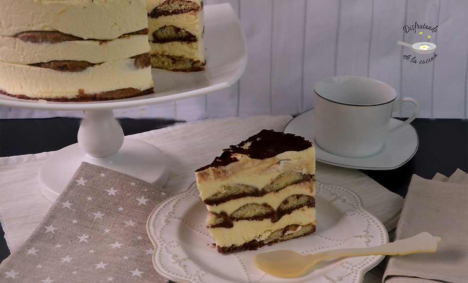 Tiramisú casero pastel receta