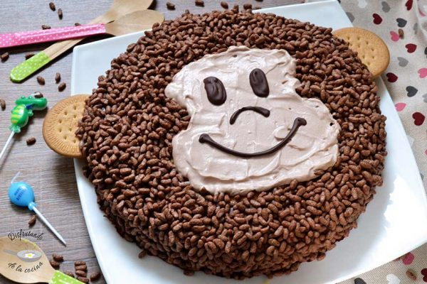 Tarta mono, decoración infantil pasteles