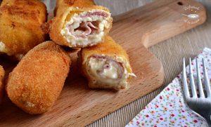 Rollitos de pollo, jamón y queso (Receta fácil)