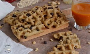 Gofres de avena y cacahuete (Receta fácil)