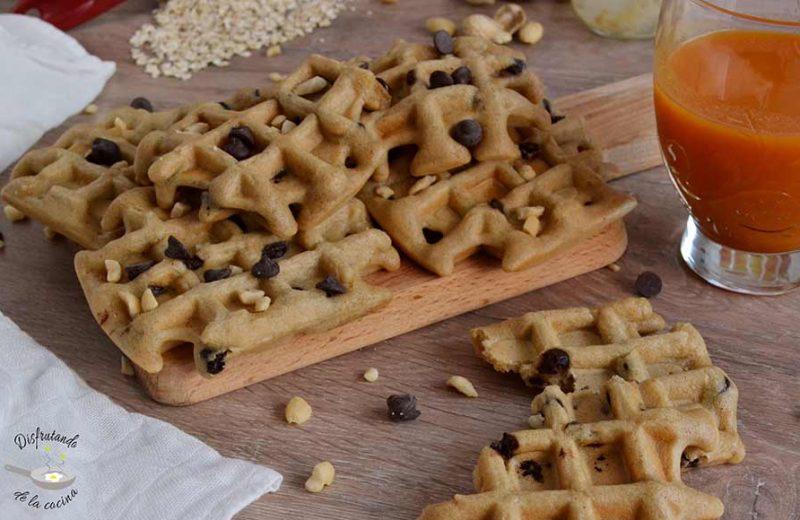 Como hacer gofres de avena y cacahuete