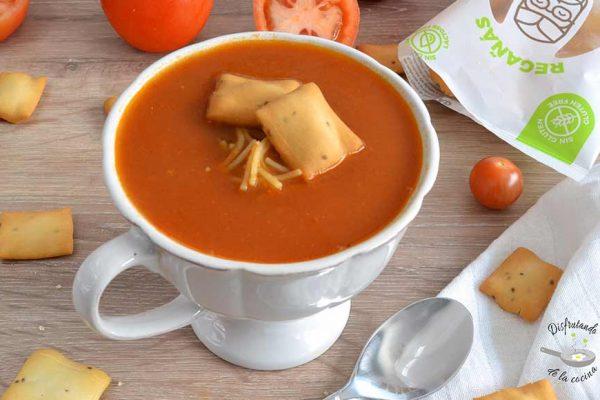 como hacer sopa de tomate
