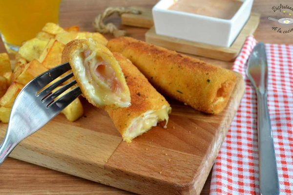 flamenquines pan molde fácil receta jamon queso