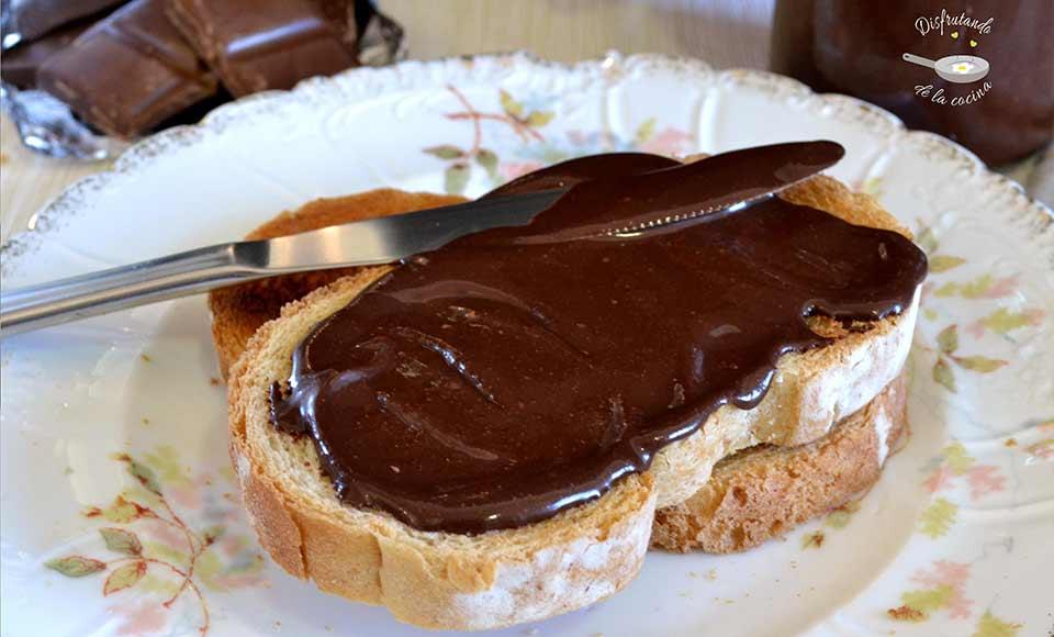 Crema de chocolate casera receta