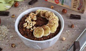 Gachas de avena y chocolate o porridge (Receta fácil)