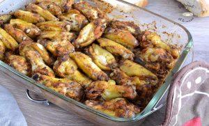 Alitas de pollo en adobo al horno