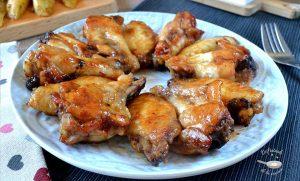 Alitas de pollo con salsa barbacoa al horno (receta fácil)