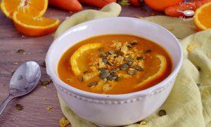 Crema de zanahorias, naranja y lentejas rojas (Receta fácil)