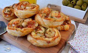 Palmeritas saladas de hojaldre: Sabor pizza