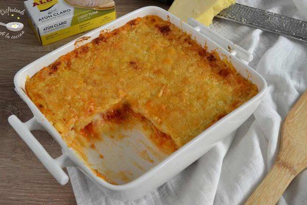 receta pastel de patata y atun