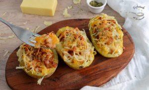 Patatas rellenas de chorizo y queso
