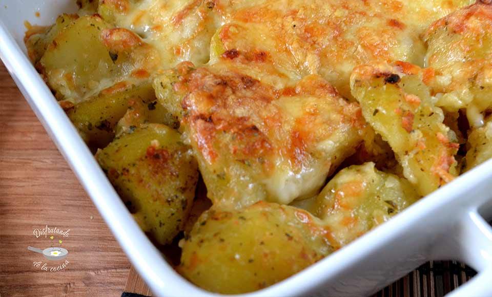 patatas al horno con queso