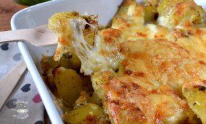 Patatas al horno con ajo y queso