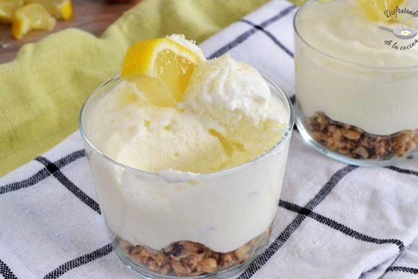 mousse de limon con leche condensada