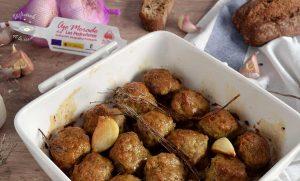 Albondigas al horno con ajo y tomillo