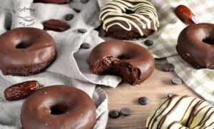 Donuts de calabaza y chocolate (Sin gluten, Sin azúcar y sin lactosa)