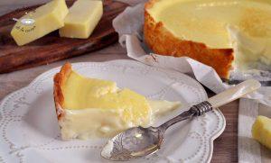 Tarta de queso cheddar cremosa
