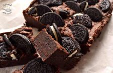 Receta brownie de galletas oreo