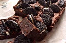 Receta brownie de galletas oreo