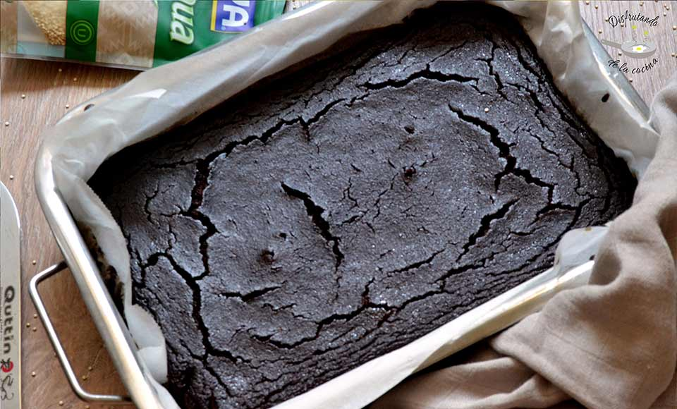 Receta de brownie de chocolate y quinoa