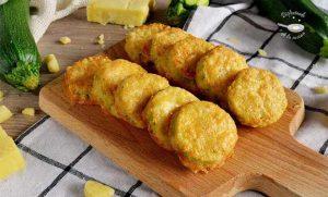 Calabacines rebozados con queso al horno