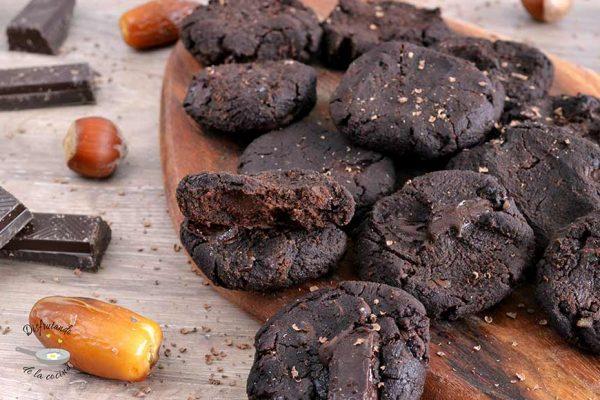 Receta de galletas de chocolate y garbanzos sin azúcar, sin gluten y sin lactosa