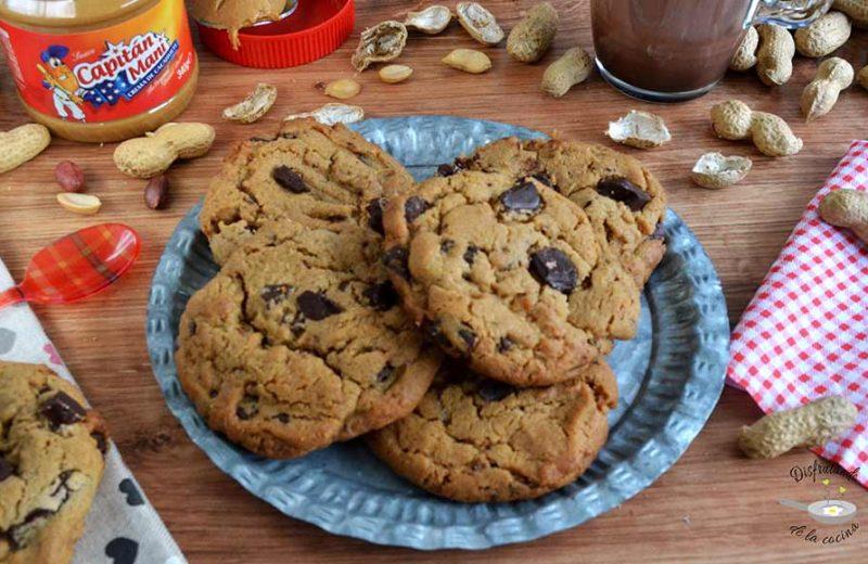 Receta de galletas de mantequilla de cacahuete y chocolate