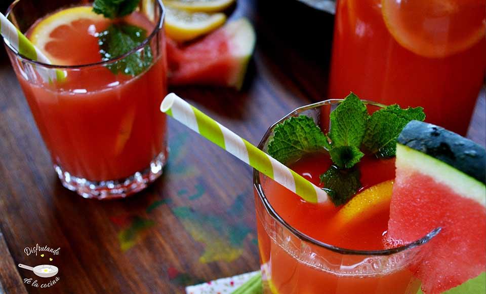 Receta de limonada de sandia casera