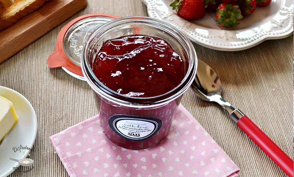 Receta mermelada de fresas con sirope de ágave