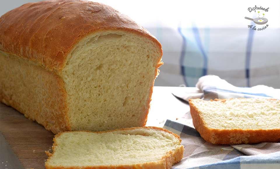 Receta de pan de molde casero, muy esponjoso
