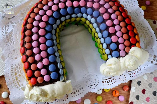 Receta de pastel arco iris