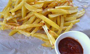 Patatas «fritas» al horno