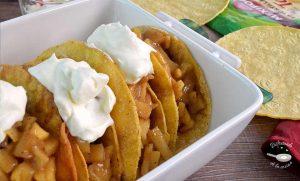 Tacos de tarta de manzana