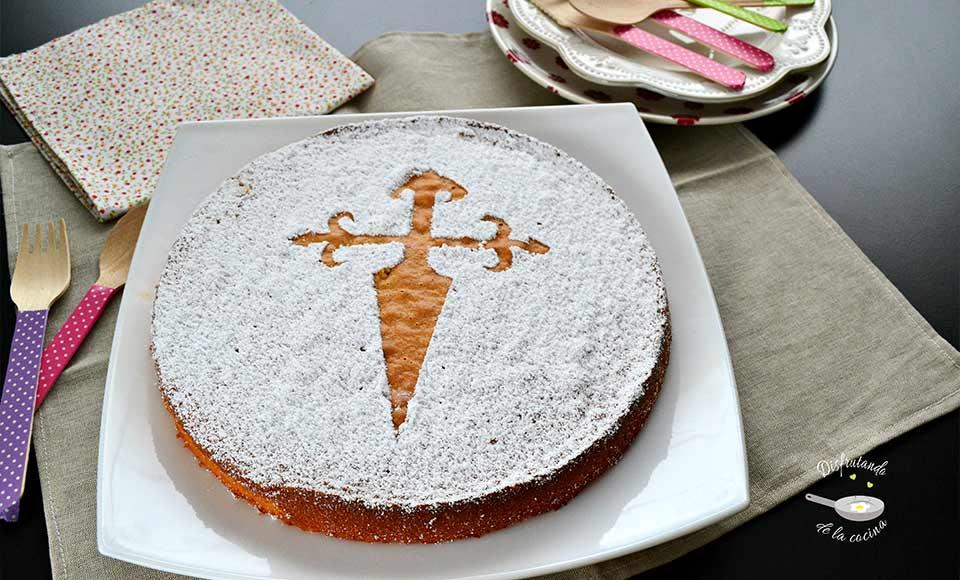 Receta de tarta de santiago casera