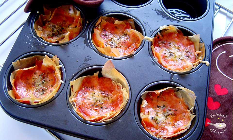 Receta de pizza de pasta filo